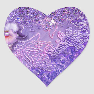 ADALIA'S BLING in Purple and Pink Heart Sticker