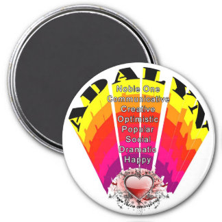 ADALYN Girl Name on Round Magnet