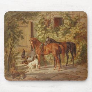 Adam, Albrecht - Horses at the Porch Mouse Pad
