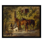 Adam Albrecht Horses at the Porch Print