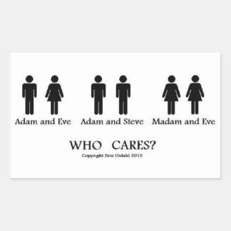 Adam and Eve and... stickers! Rectangular Sticker