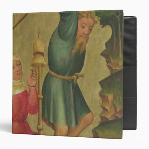 Adam and Eve at Work 3 Ring Binder