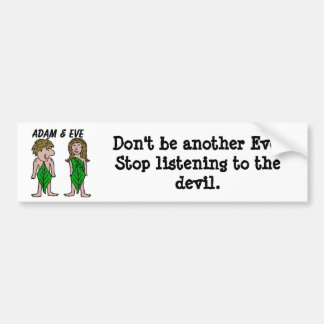 Adam and Eve Car Bumper Sticker