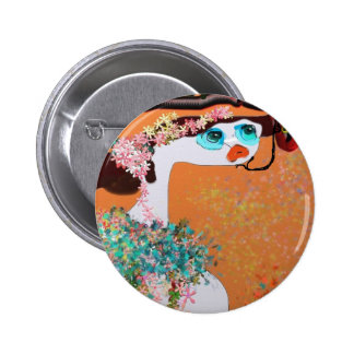 Adam and Eve 2 Inch Round Button