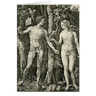 Adam and Eve by Albrecht Durer Card