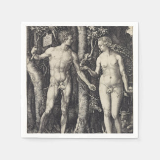 Adam and Eve by Albrecht Durer Disposable Napkins