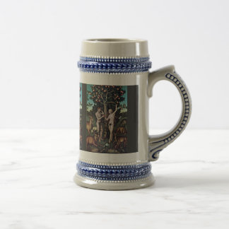 Adam And Eve By Cranach D. Ä. Lucas (Best Quality) Beer Stein