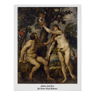 Adam And Eve By Peter Paul Rubens Poster