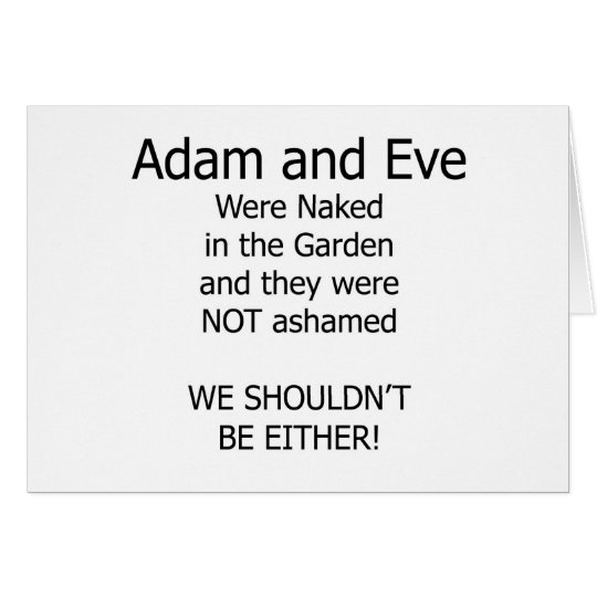 Adam and Eve Card