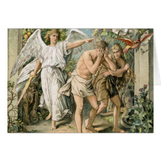 Adam and Eve cast out of Paradise Greeting Card