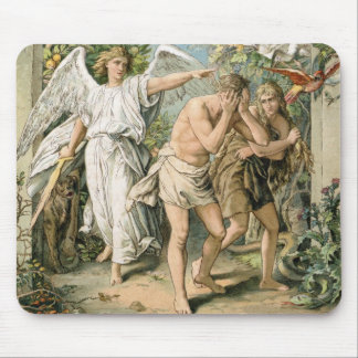 Adam and Eve cast out of Paradise Mouse Pad