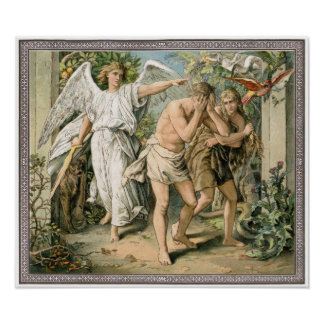 Adam and Eve cast out of Paradise Poster