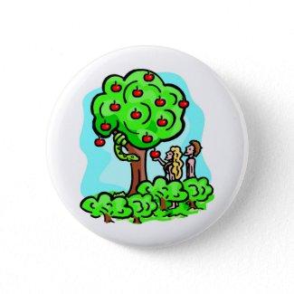 Adam and Eve Christian artwork button