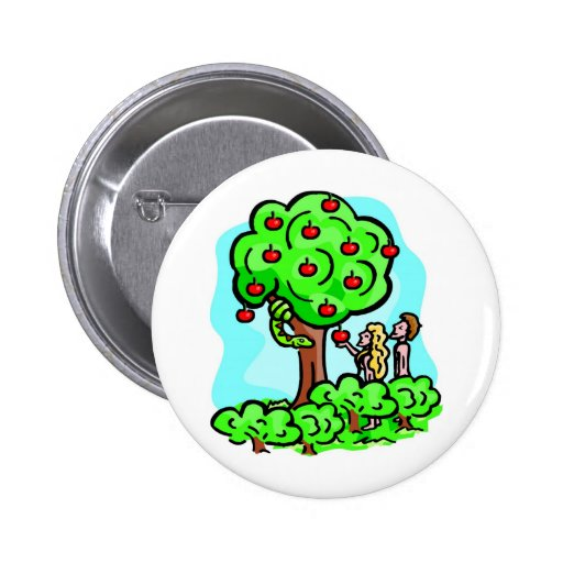Adam and Eve Christian artwork Pinback Button