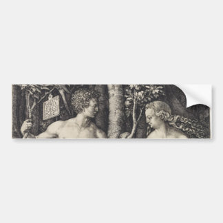 Adam and Eve Engraving by Albrecht Durer Bumper Sticker