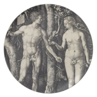 Adam and Eve Engraving by Albrecht Durer Party Plates