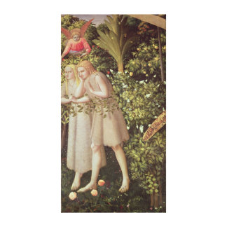 Adam and Eve Expelled from Paradise Canvas Print