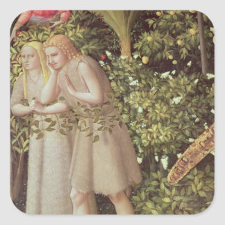 Adam and Eve Expelled from Paradise Square Sticker