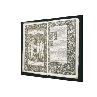Adam and Eve, from 'The Kelmscott Chaucer', publis Canvas Print