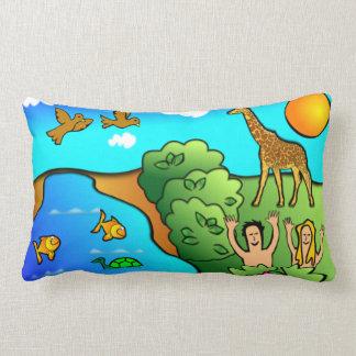 Adam and Eve Garden of Eden Throw Pillows