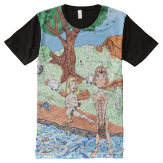 Adam and Eve in the Garden All-Over-Print Shirt