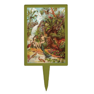 Adam And Eve In The Garden Cake Topper