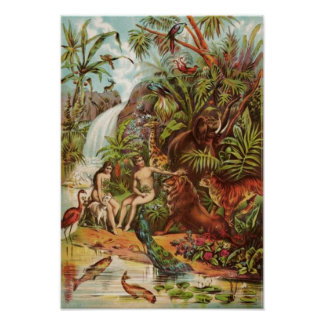Adam And Eve In The Garden Posters