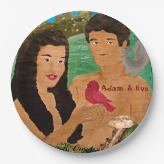 Adam and Eve Paper Plates