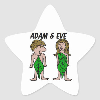Adam and Eve Star Sticker