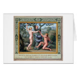 Adam and Eve with the Serpent, illustration from t Greeting Card