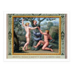 Adam and Eve with the Serpent, illustration from t Post Card