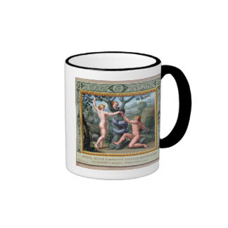 Adam and Eve with the Serpent, illustration from t Ringer Mug