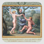 Adam and Eve with the Serpent, illustration from t Stickers