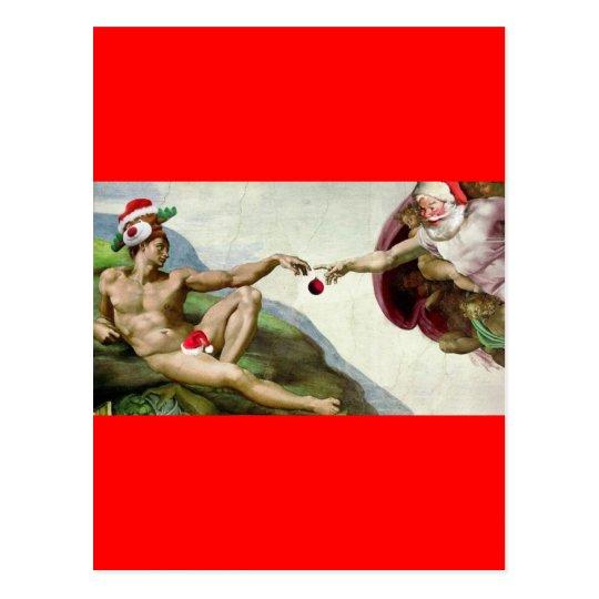 Adam and Santa Postcard