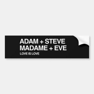 ADAM AND STEVE LOVE - png Bumper Stickers