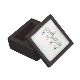 Adam ASL FINGERSPELLED NAME SIGN Gift Box