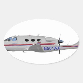 Adam Aviation A-500 N501AX Oval Sticker