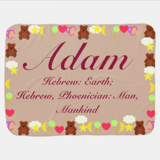 Adam Baby Blanket Template