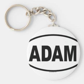 ADAM BASIC ROUND BUTTON KEYCHAIN