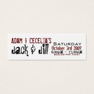 Adam & Cecelia Jack & Jill Mini Business Card