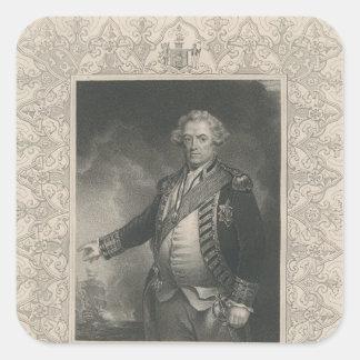 Adam Duncan, 1st Viscount Duncan of Camperdown Square Sticker