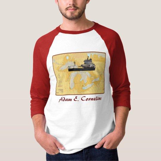 Adam E. Corneliu Great Lakes Ship on chart T-Shirt