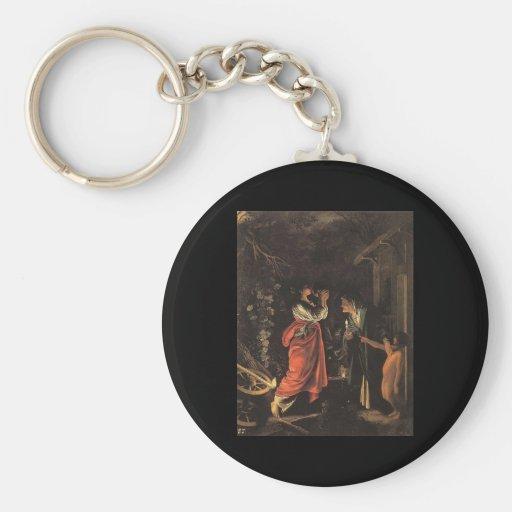 Adam Elsheimer Ceres And Stellio Basic Round Button Keychain
