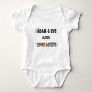 Adam & Eve & Adam & Steve Baby Bodysuit
