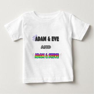 Adam & Eve & Adam & Steve Baby T-Shirt