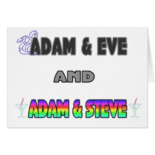 Adam & Eve & Adam & Steve Card