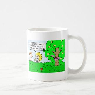 adam eve apple golden delicious coffee mug