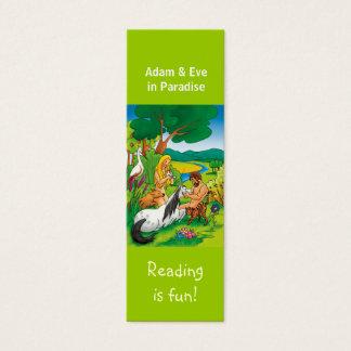 Adam & Eve in Paradise bookmark Mini Business Card