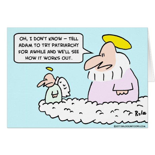 adam eve patriarchy god angel card