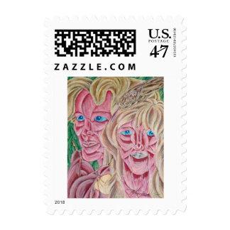Adam & Eve Postage Stamp